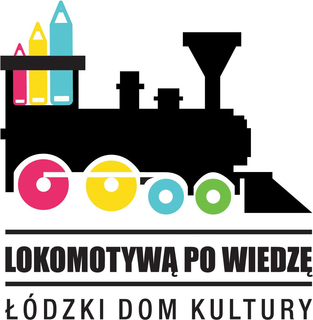 """Logo projektu """"Lokomotywą po wiedzę"""""""